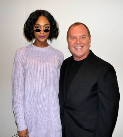 Jourdan Dunn and Michael Kors