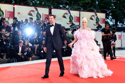 Bradley Cooper and Lady Gaga at the A Star Is Born premiere