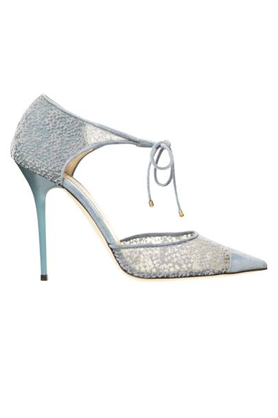 Suede & Mesh shoes, £475, by Jimmy Choo