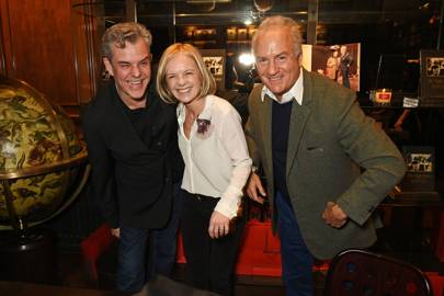 Danny Huston, Mariella Frostrup and Charles Finch