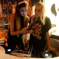 Amber Le Bon and Becky Tong