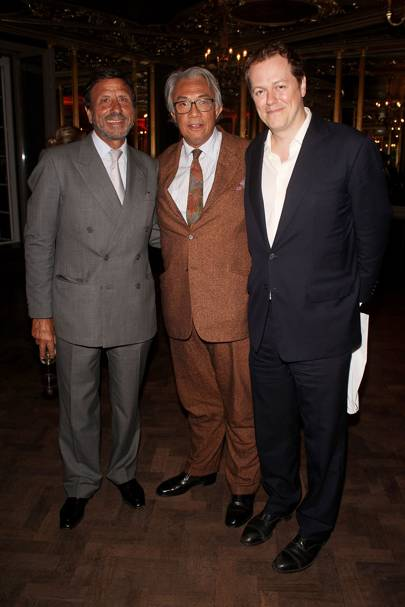 Sir Rocco Forte, Sir David Tang and Tom Parker Bowles, 2013