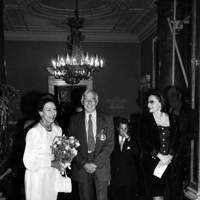 Princess Margaret, Roger de Grey and Pamela Lady Harlech