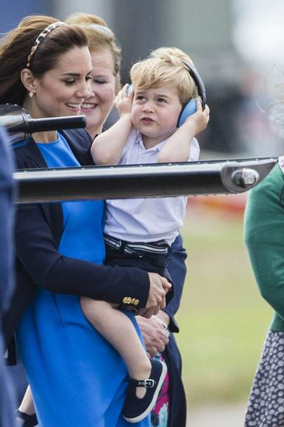 The Duchess of Cambridge and Prince George