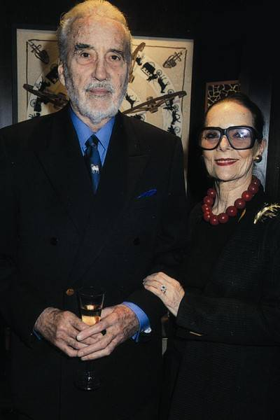 Christopher Lee and Mrs Christopher Lee