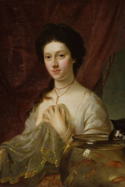 Courtesan Catherine 'Kitty' Fisher, by Nathaniel Hone, 1765
