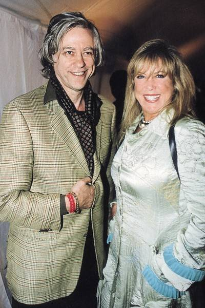 Sir Bob Geldof and Pattie Clapton