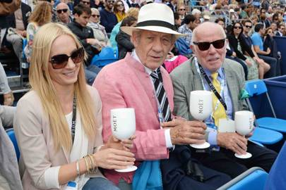 Joanne Froggatt, Sir Ian McKellen and Richard Wilson
