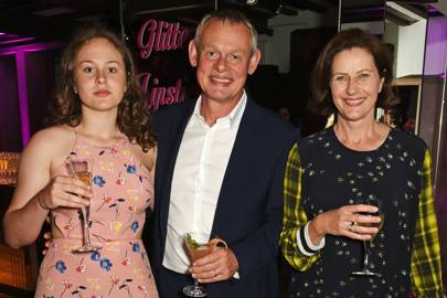 Emily Clunes, Martin Clunes and Philippa Braithwaite