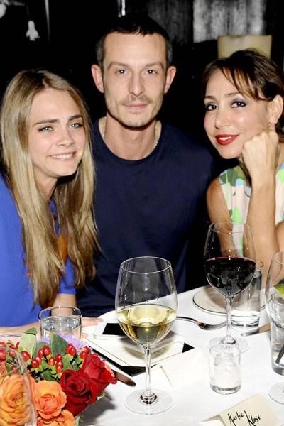 Cara Delevingne, Jonathan Saunders and Sofia Barattieri