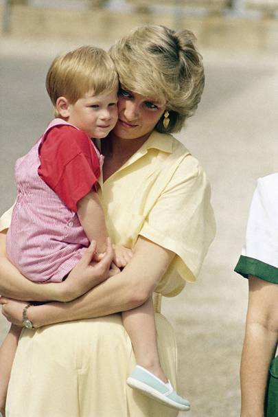 Prince Harry and the Princess of Wales, 1987