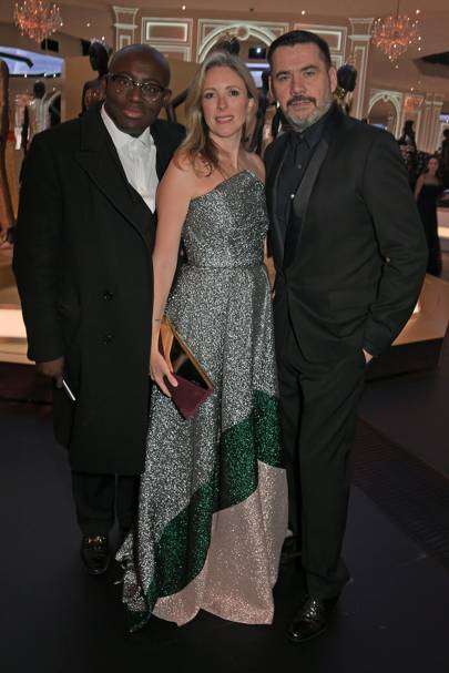 Edward Enninful, Stephanie Phair and Roland Mouret
