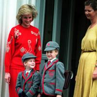 The Princess of Wales, Prince Harry and Prince William, 1989