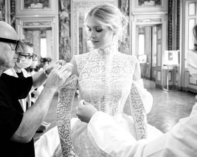Who designed Lady Kitty Spencer's wedding dress? | Tatler