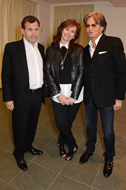 Poju Zabludowicz, Anita Zabludowicz and Richard Caring