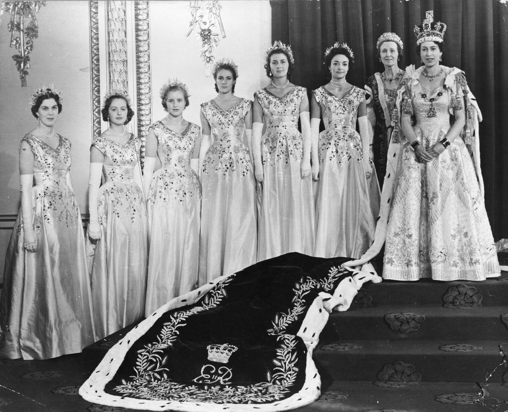 the day of the queen s coronation as remembered by five of her six blue blooded maids of honour tatler her six blue blooded maids of honour