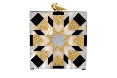 Perspex clutch, £530, by Kotur