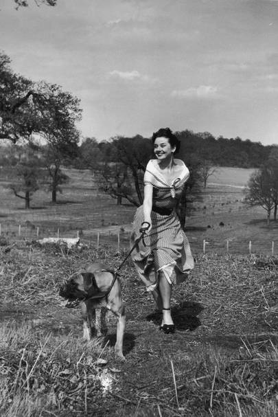 Audrey in Richmond Park in 1950