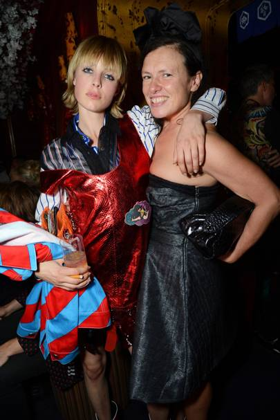 Edie Campbell and Katie Grand