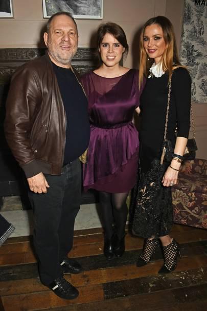 Harvey Weinstein, Princess Eugenie and Georgina Chapman