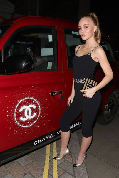 Lily-Rose Depp hosts Chanel No 5 Red Edition Party at Annabel's
