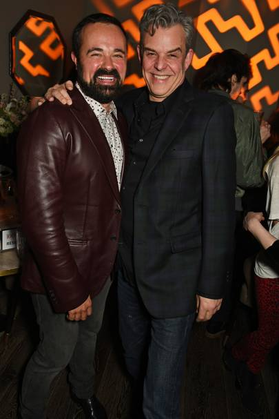 Evgeny Lebedev and Danny Huston