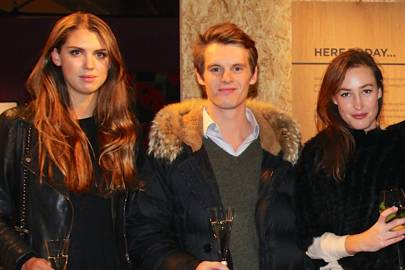 Sabrina Percy, Lady Tatiana Mountbatten and David Tollemache