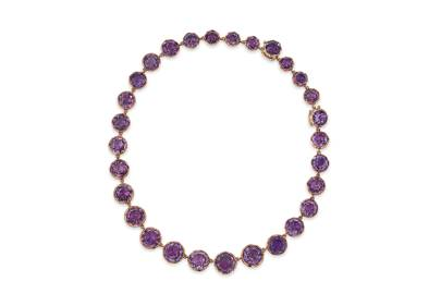 19th century amethyst necklace