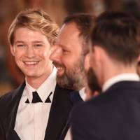 Joe Alwyn and Yorgos Lanthimos at The Favourite premiere