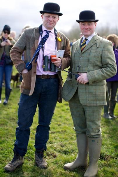 Edward Seyfried and Major Neil Cross