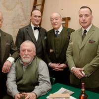 Sir John Standing, Kenneth Cranham, A.A.Gill, Michael Gambon, David Furnish and Oliver Cotton
