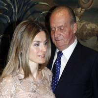 King Juan Carlos and his daughter-in-law, Princess Letizia, 2012