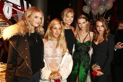 Lily Donaldson, Ellie Goulding, Karlie Kloss, Taylor Swift and Cara Delevingne