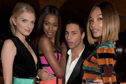 Lily Donaldson, Sigail Currie, Olivier Rousteing and Jourdan Dunn