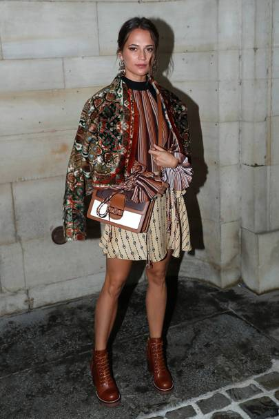 Alicia Vikander at the Louis Vuitton show.