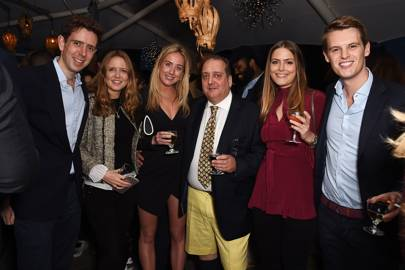 David Holland, Arabella Holland, Jemima Cadbury, Andre Brenner, Philippa Cadogan and David Tollemache
