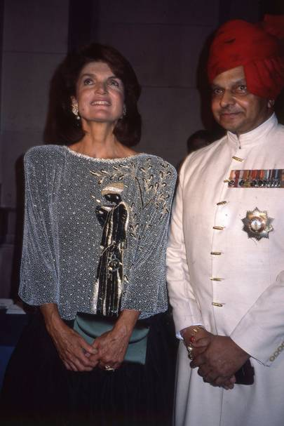 Jacqueline Onassis and The Maharaja of Jaipur
