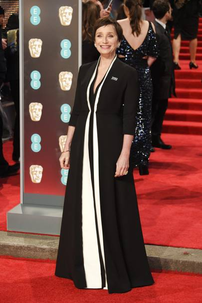 Dame Kristin Scott Thomas in Christian Dior Couture