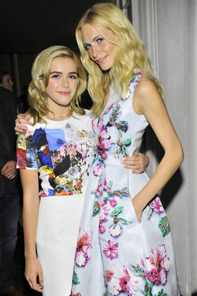 Kiernan Shipka and Poppy Delevingne