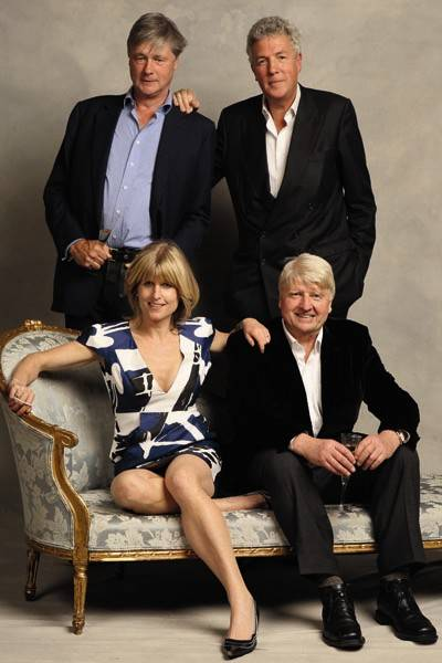 The Marquess of Worcester, Rachel Johnson, Henry Wyndham and Stanley Johnson