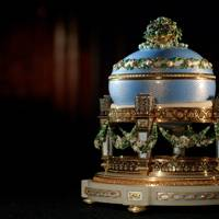 The Love Trophy (or 'Cradle of Garlands') Egg, House of Fabergé, 1907