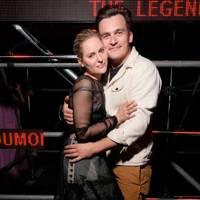 Aimee Mullins and Rupert Friend