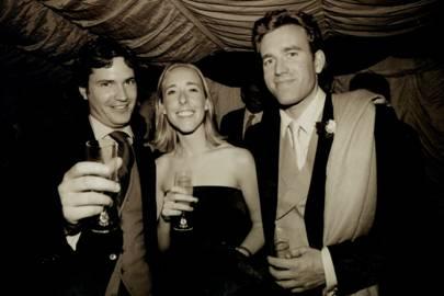 Tom Barber, Mrs Andrew Drake and Andrew Drake