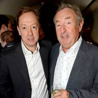 Geordie Greig and Nick Mason