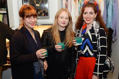 Christina Sotiriou, Victoria Lawrence and Emily Carter