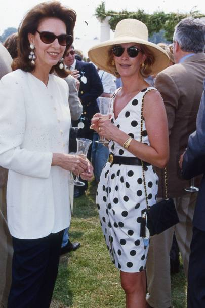Mrs Franco Zangrilli and Baroness Teddy van Zuylen