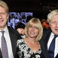 Jo Johnson, Rachel Johnson and Boris Johnson