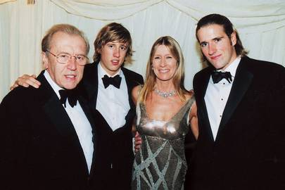 Sir David Frost, George Frost, Lady Carina Frost and Wilfred Frost