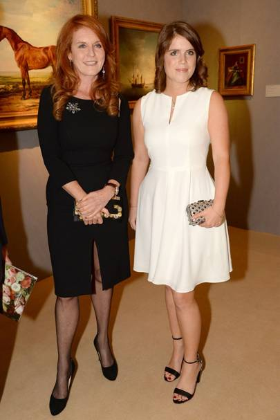 With Sarah, the Duchess of York, 2014