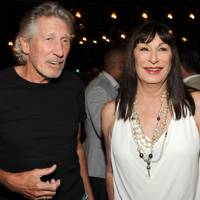 Roger Waters and Anjelica Houston
